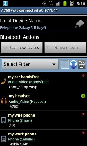bluetooth manager ICS para android