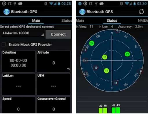 bluetooth gps android app