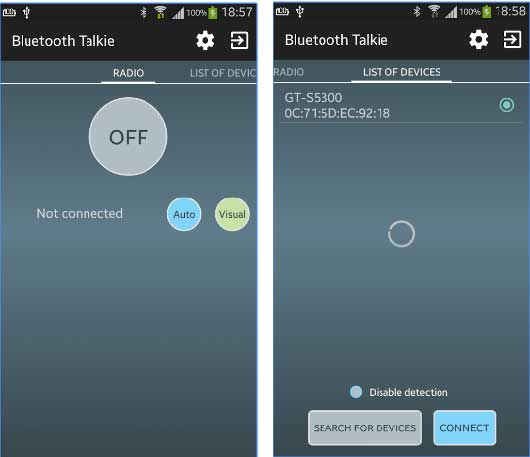 bluetooth talkie app android