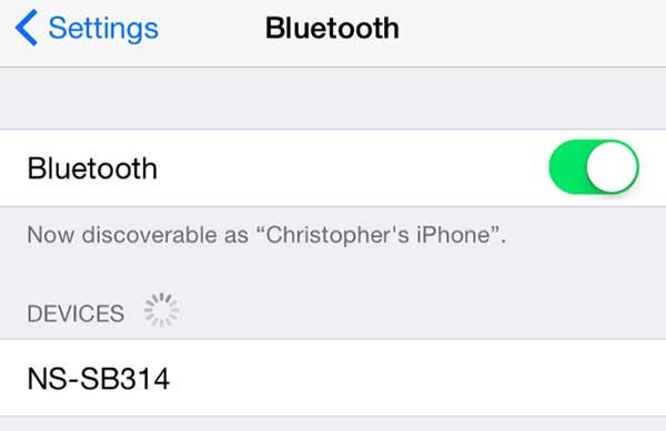 configurando emparejamiento de bluetooth con dispositivos