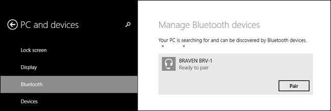 emparejar dispositivos en windows 8 o 10