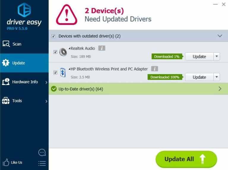 driver easy para descargar bluetooth para hp