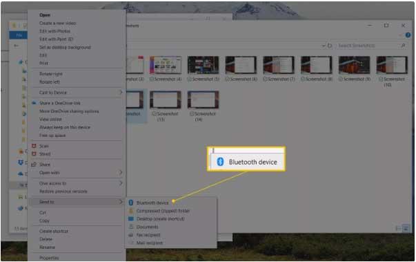 transferir archivos con bluetooth desde la pc