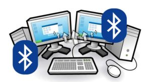 dos monitores pc con bluetooth
