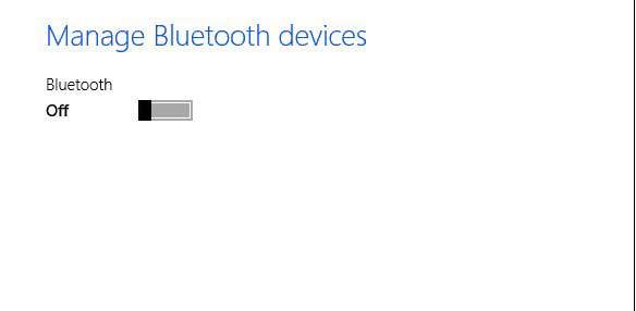 activar dispositivo bluetooth en windows 8